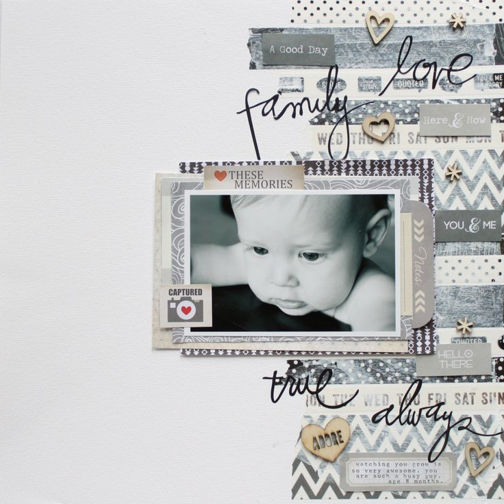#Papercraft #scrapbook #layout. Hot Trends from Paper Scrapbooking: Washi Tape + WIN | Sahlin Studio | Digital Scrapbooking Designs