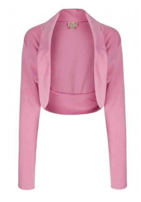 Jersey Bolero Pink, shrug by Lindy Bop  www.misswindyshop.com