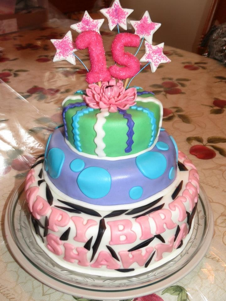 Best Th Birthday Cakes Images On Pinterest Biscuits Cakes - 15 year birthday cake