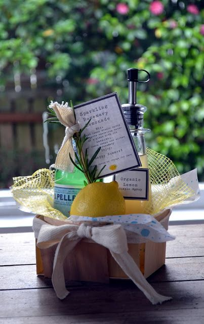 Summer Hostess Gift - Sparkling Rosemary Lemonade