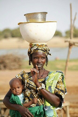 West African mother