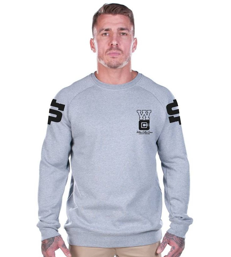 Wcc white collar criminal grey sweat super comfy available at www.ladsoffortune.com #sweat #money #hiphop #fashion #lof #mensfashion #trends #celebs #comfy #crew #pullover