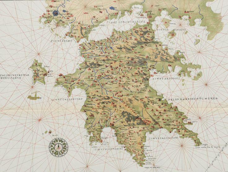 Βενετικός χάρτης της Πελοποννήσου.