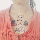 Happy Birthday Temporary Tattly Tattoo Set - www.oliveandpimento.co.nz