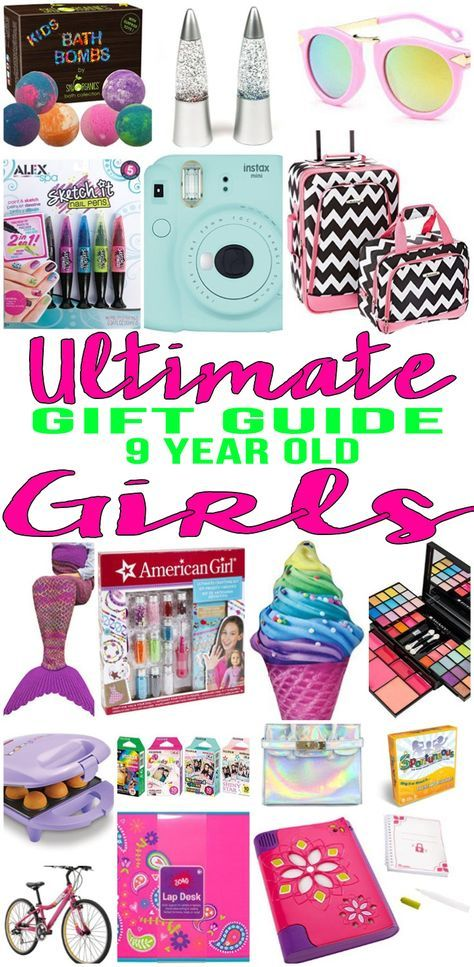 BEST Gifts 9 Year Old Girls! Top gift ideas that 9 yr old girls will love! Find presents & gift suggestions for a girls 9th birthday, Christmas or just because. Cool gifts for pre teen / tween girls on their ninth bday. Wondering what to buy a 9 year old for their birthday? We have you covered - from makeup to toys to electronics to sports - room decor - crafts - educational & more - find the best gift ideas! Amazing products for daughters, grandkid, niece, friend or best friend.