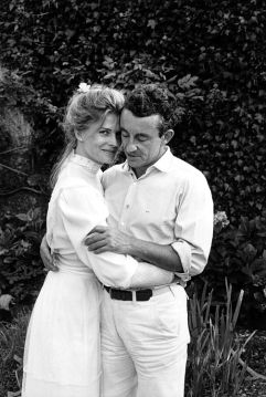 [MARRIED] Candice Bergen with her late husband French film director Louis Malle at their 1980 wedding in France
