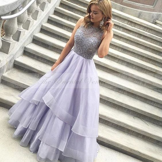 ==> [Free Shipping] Buy Best Charming Lilac Ball Gown Prom Dresses Beading Crystal Ruched Puffy Skirt Lavender Evening Dress 2017 Robe de Soriee Party Gowns Online with LOWEST Price | 32793120352