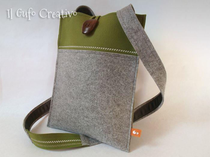 Il Gufo Creativo felt shoulder bag