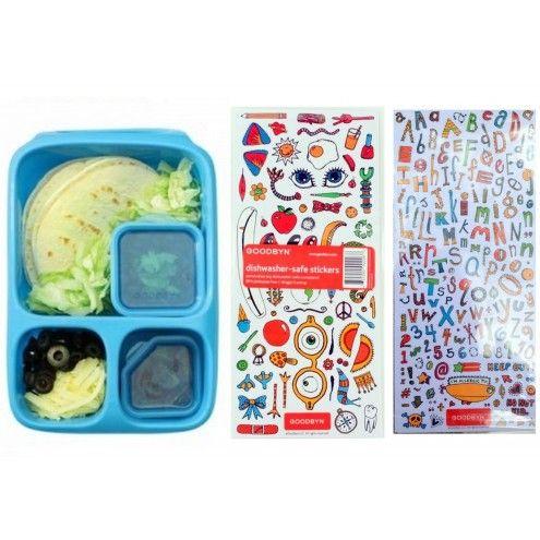 Lunchbox with stickers / śniadaniówka z naklejkami