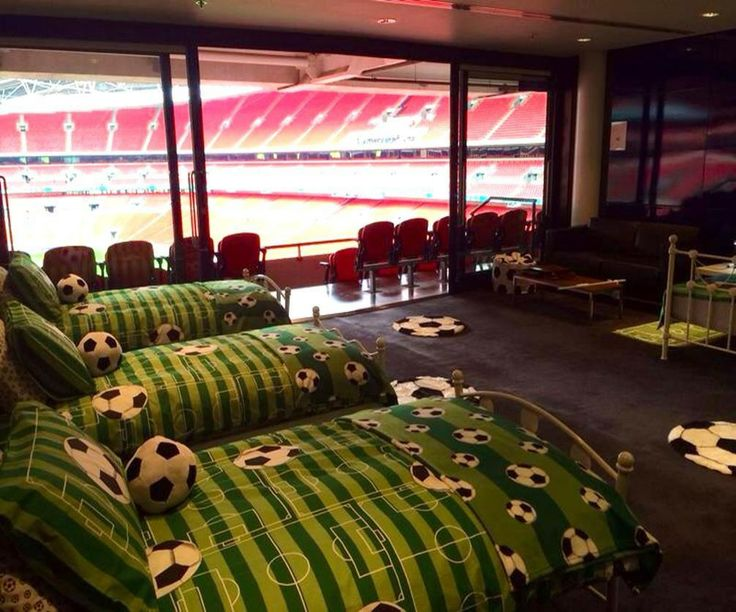 Wembley stadium had a sleep over for fans.