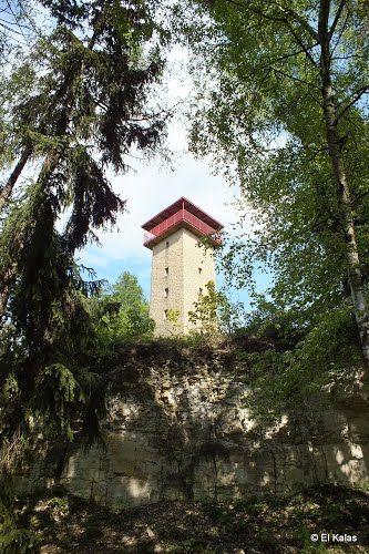 Burianova rozhledna na kopci Milenka Rudka u Kunštátu. Výška 15m, s 80 schody. Czechia