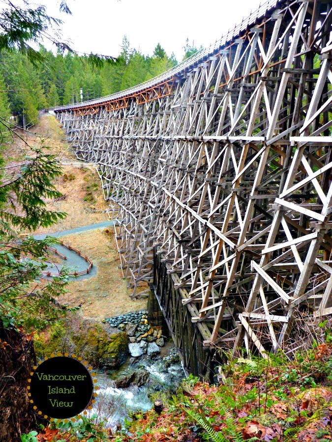 Head to the Cowichan Valley to see an amazing structure called the Kinsol Trestle.