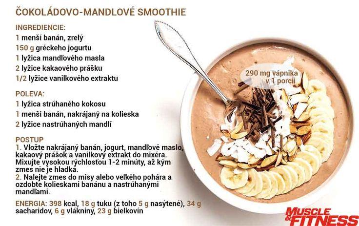 Mandľové smoothie s vápnikom.