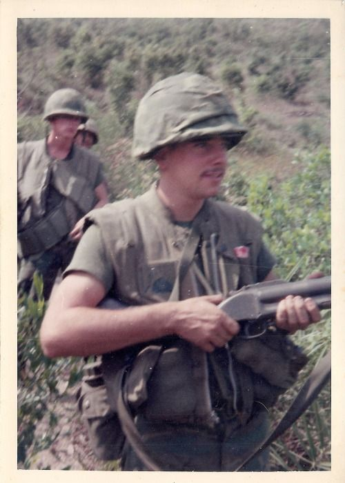 US Marine armed with an M79 grenade launcher ~ Vietnam War                                                                                                                                                                                 More