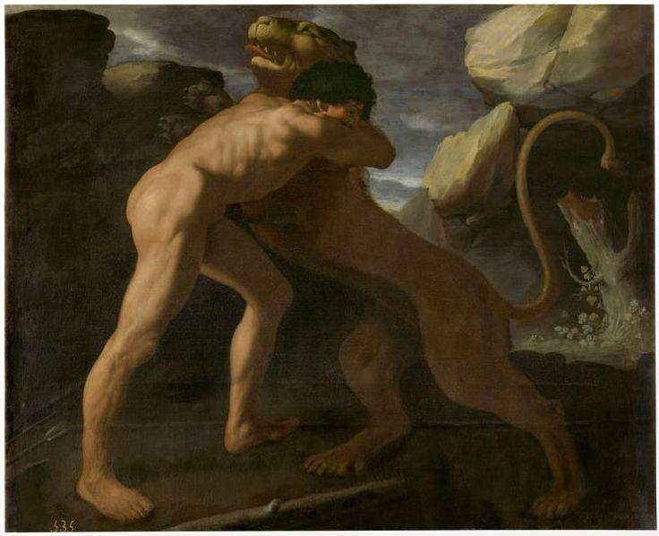Francisco de Zurbarán Hércules lucha con el león de Nemea - Colección - Museo Nacional del Prado