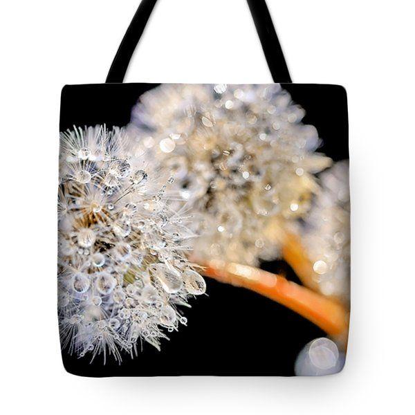 Tote Bags - Dandelion Dew Tote Bag by Nadia Sanowar