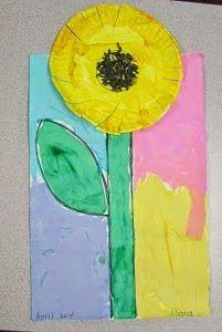 Paper Plate Sunflower (from Mrs. Karen's Preschool Ideas)