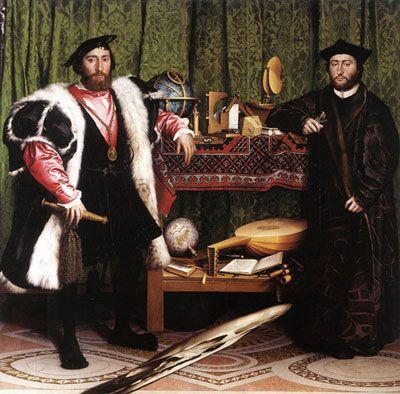 Hans Holbein le Jeune. Les Ambassadeurs.  1533. National Gallery (Londres