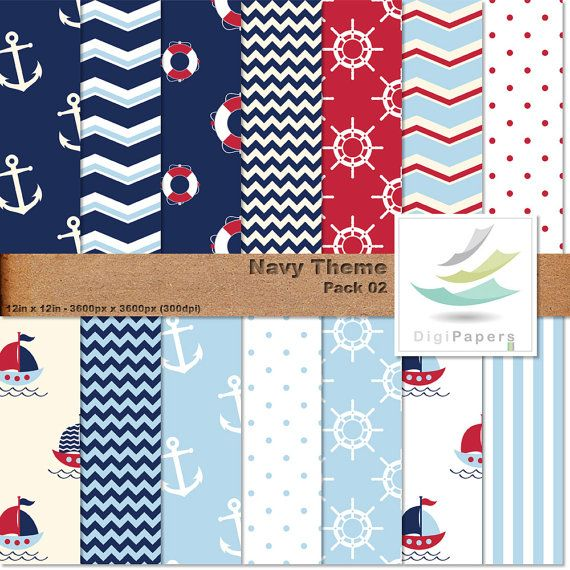 Navy Theme - Pack 02 by DigiPapers