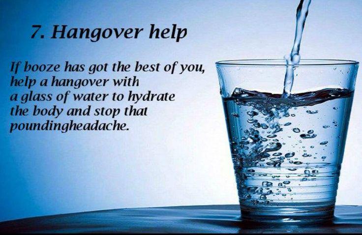 7. Hangover help