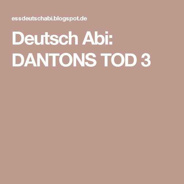 Deutsch Abi: DANTONS TOD 3