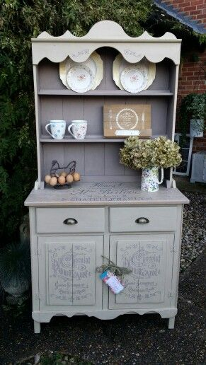 Shabby Chic French Country Farmhouse Dresser in Annie Sloan paints by Imperfectly Perfect xx