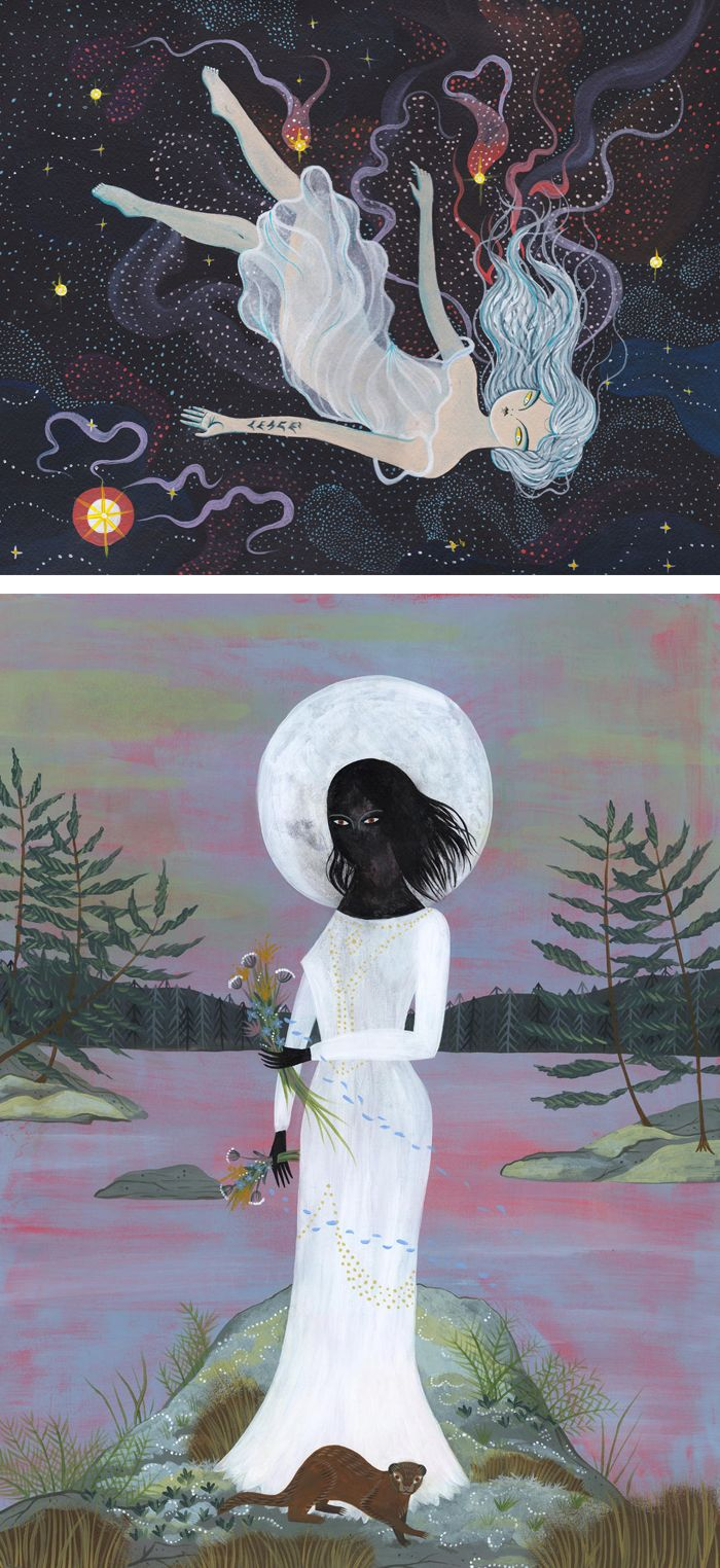 Magical Illustrations by Lisa Vanin // folklore illustrations