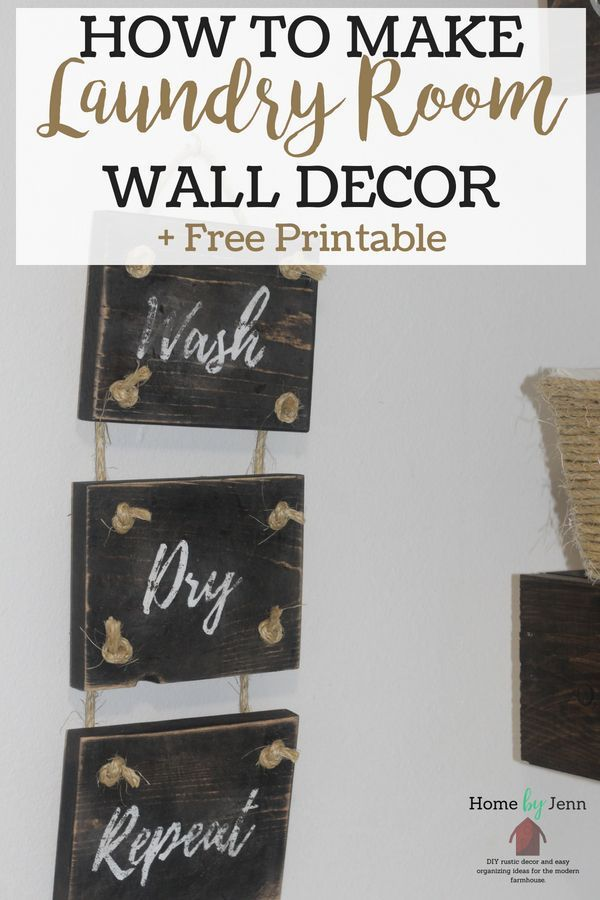 How To Make Diy Laundry Room Decor With Images Laundry Room