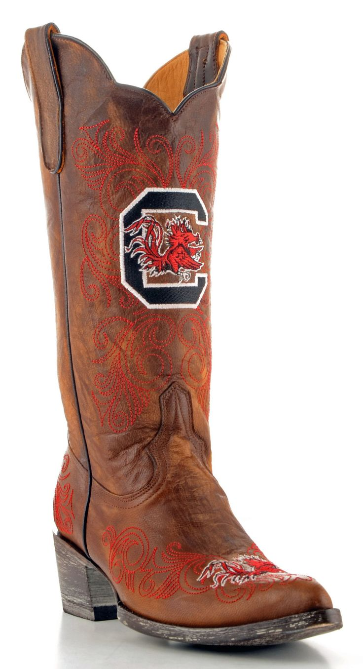 Gameday U Of S Carolina Ladies Leather Boots USC-L086-1 - Brass