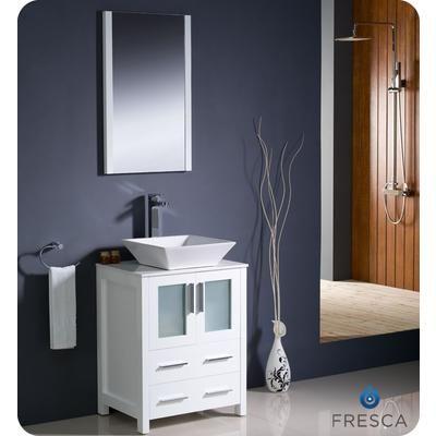 Photo Album For Website Fresca Torino Inch White Modern Bathroom Vanity With Vessel Sink FVNWH VSL