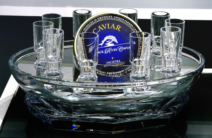Caviar and Vodka serving dish from Mary Mahoney Boutique