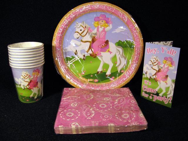 Girls Horse Theme Birthday Supplies Pink Western Cowgirl