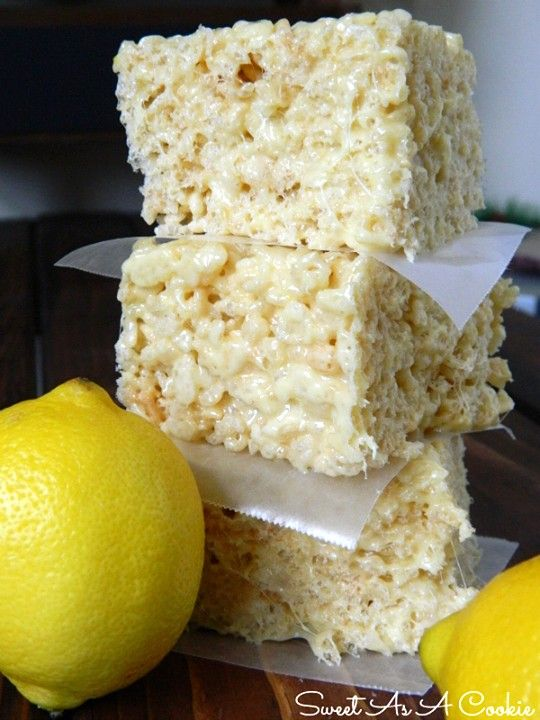 These No Bake Lemon Rice Krispie Treats will become a new favourite and they are NO BAKE!