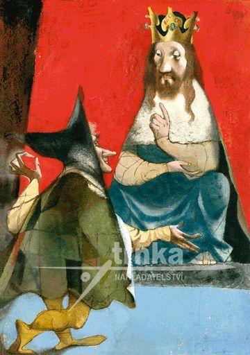 Reprodukce Král a šašek - Jiří Trnka