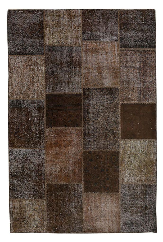 Overdyed Patchwork Carpet - Brown Color Vintage Patchwork Rug -  Recoloured Contemporary Rug #bathroom-rug #brown #brown-kilim #brown-kilim-patchwork #brown-patchwork #contemporary-rug #decorative-rug #diaper-pattern #diaper-rug #great-deal #kitchen-rug #mat #modern-rug #multi-color #multi-color-carpet #multi-color-ethnic-rug #multi-color-patchwork-rug #multi-color-rug #patchwork #patchwork-carpet #patchwork-rug #puzzle-rug #rug-for-childrens-room #rug-for-kitchen #rug-on-sale