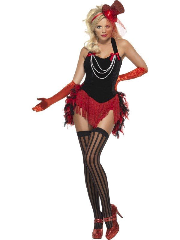 Feather Burlesque Moulin Rouge Ladies Can-Can 1920s Saloon Fancy Dress Costume | eBay