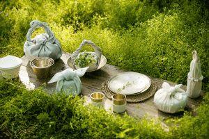 Korean BOJAGI with YUGI(brassware)