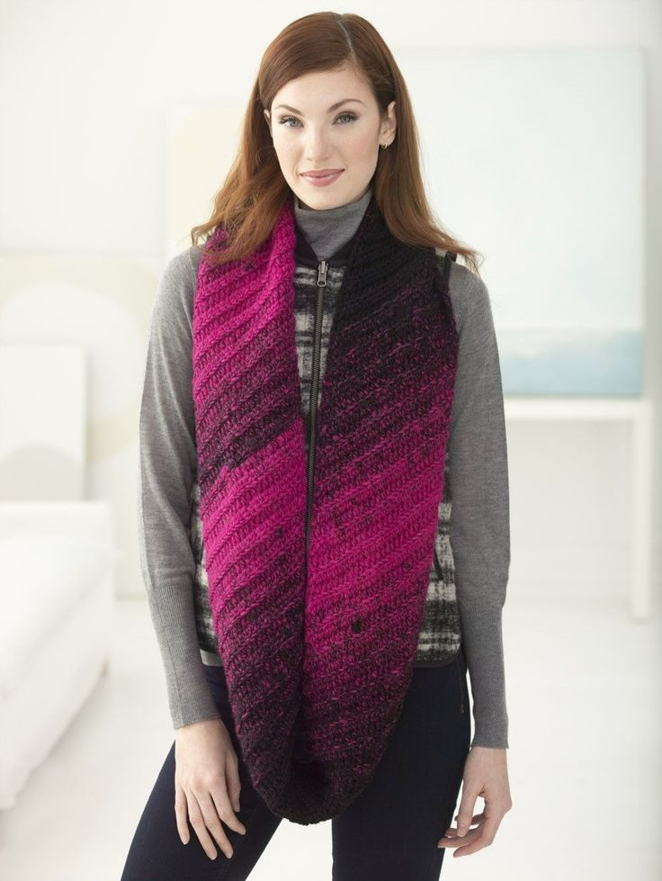 Infinity Scarf Knitting Pattern Lion Brand : 414 best images about Knit & Crochet Scarves on Pinterest Infinity scar...