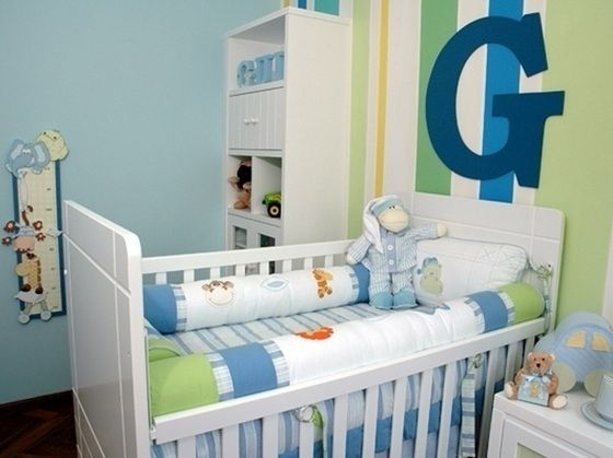 decoraçao para quarto de bebe masculino azul e verde - Pesquisa Google
