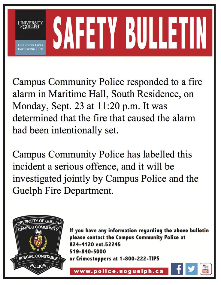 Dorm fire safety
