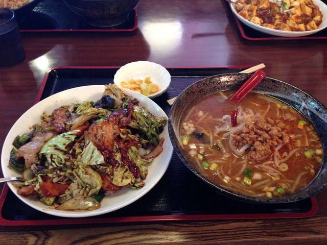 辛みそラーメンと回鍋肉 karamisoRamen and hoikoro