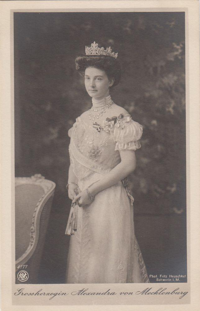 Enchanting Grand Duchess Alexandra of Mecklenburg Schwerin - RARE pcd   Collectibles, Postcards, Royalty   eBay!