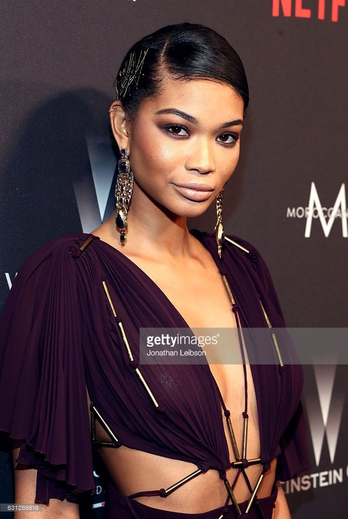 Model Chanel Iman at The Weinstein Company and Netflix Golden Globes Party presented with FIJI Water at The Beverly Hilton Hotel on January 8, 2017 in Beverly Hills, California.