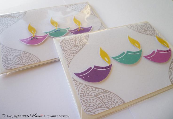 handmade diwali cards Light, Diya, Festival of light, Handmade Diwali Cards