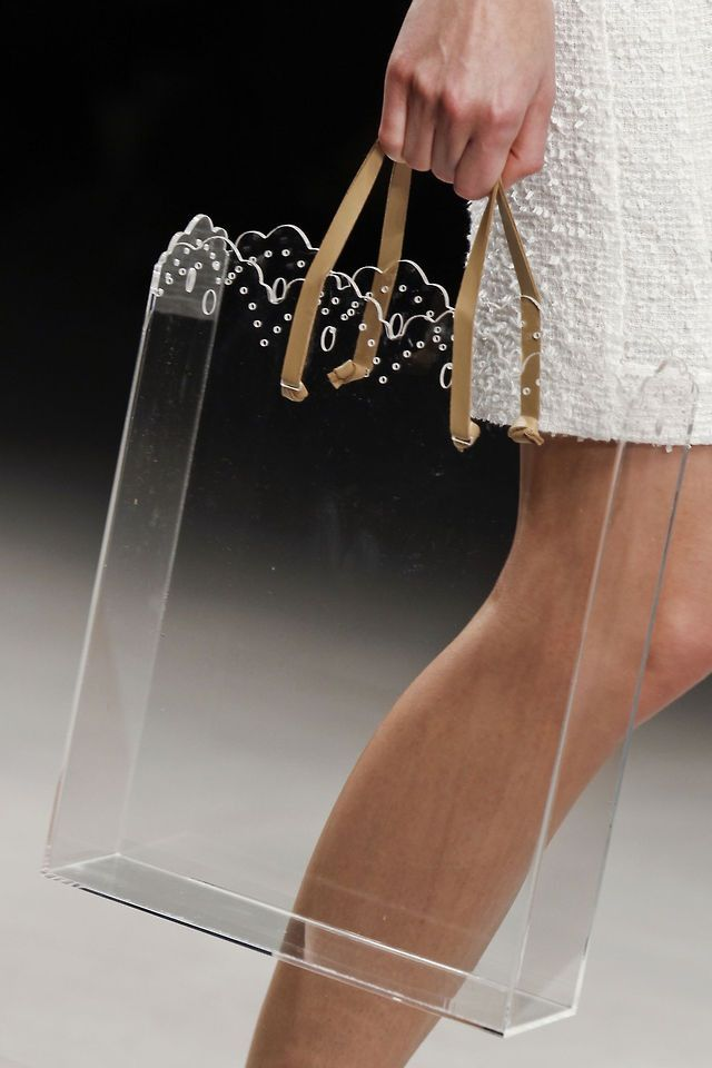 perfect see-through bag idea- laser cut perspex or wood?                                                                                                                                                                                 More