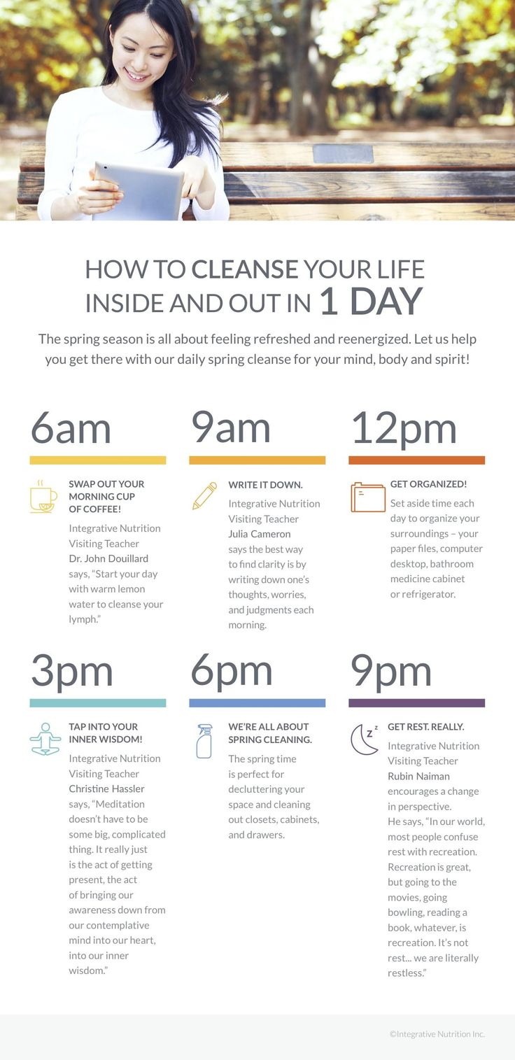 How to Cleanse Your Life Inside and Out in One Day [Infographic] | Institute for Integrative Nutrition