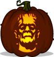 Frankenstein's Monster pumpkin pattern - Frankenstein - Pumpkin Carving Patterns and Stencils - Zombie Pumpkins!