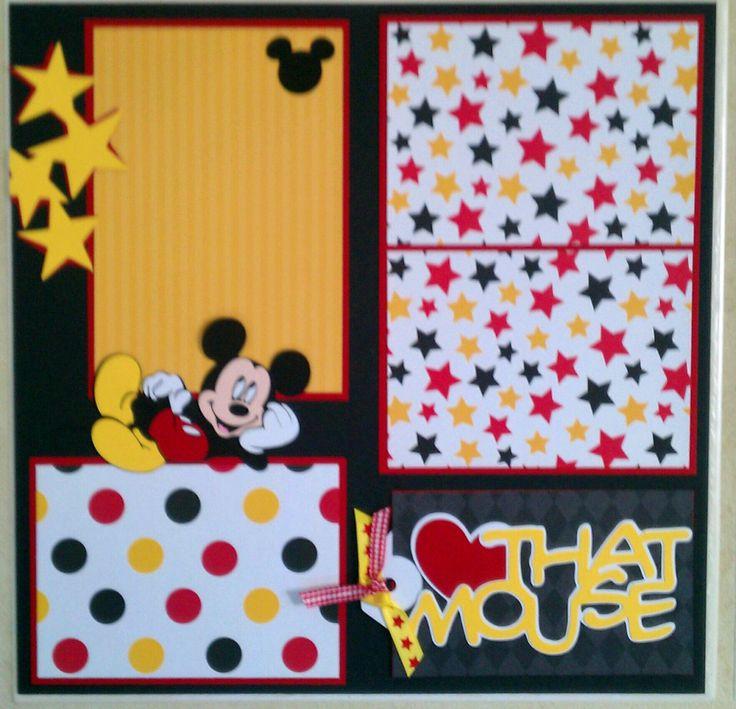 498 Best Disney Layouts Images On Pinterest Disney Scrapbook