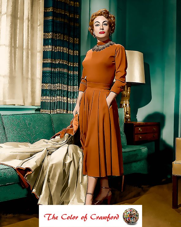 Joan Crawford, 1953, MGM Studio publicity still in character as Broadway musical star, Jenny Stewart, taken during the filming of the motion picture, Torch Song.
