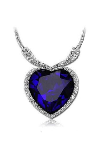 Fashion Heart Of Ocean Crystal Necklace